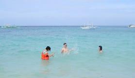 White beach, Boracay Island, Philippines Stock Photo