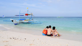 White beach, Boracay Island, Philippines Stock Photography