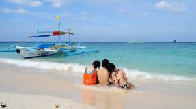 White beach, Boracay Island, Philippines Stock Images