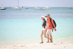 White beach, Boracay Island, Philippines Stock Photos