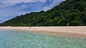 White beach at Boracay Island, Philippines on a sunny afternoon. stock images