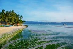 White beach. Boracay island. Philippines. Stock Photos