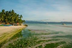 White beach. Boracay island. Philippines. Stock Photography