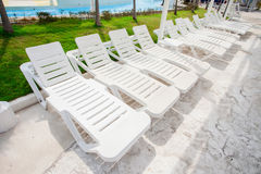White Beach chair Stock Images