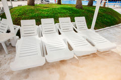 White Beach chair Royalty Free Stock Image