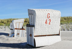 White beach chairs Stock Photography