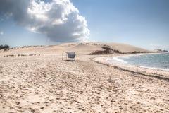 White beach with cloud on the Bazaruto Island Stock Photos