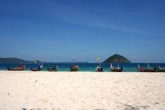 White beach, Coral IsIand, Phuket, Thailand Stock Image