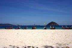 White beach, Coral IsIand, Phuket, Thailand Royalty Free Stock Image