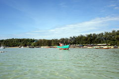 White beach, Coral IsIand, Phuket, Thailand Royalty Free Stock Photos