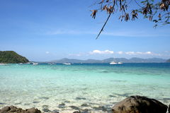 White beach, Coral IsIand, Phuket, Thailand Royalty Free Stock Photography