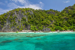 White beach in Coron Palawan Philippines Stock Photos