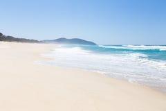 White beach. A deserted white sand beach Royalty Free Stock Photo