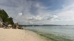 White beach in the evening. Boracay, Philippines stock video