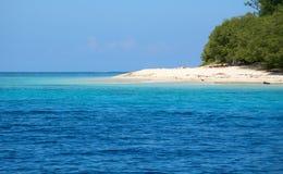 White beach at Gili Meno island Stock Image