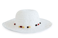 White beach hat Stock Images