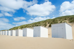 White beach huts at Texel Royalty Free Stock Image