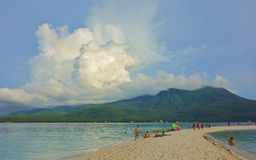 White beach on the island of Camiguin Royalty Free Stock Images