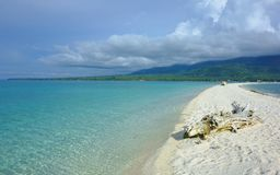 White beach on the island of Camiguin. View of Camiguin Island with White Beach, Philippines Royalty Free Stock Photo