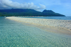White beach on the island of Camiguin Stock Photos