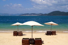 White beach on the island in Vietnam Hot Dam Royalty Free Stock Photo