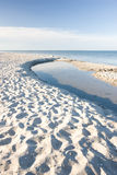 The White Beach - Jutland, Denmark Stock Photos