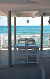 White beach restaurant Royalty Free Stock Image