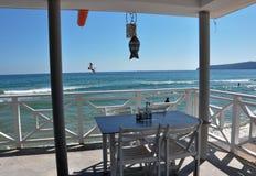 White beach restaurant Royalty Free Stock Images