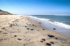 White beach with rocks on the Bazaruto Island Stock Image