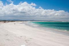 White beach sand at Arniston Royalty Free Stock Image