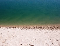 White Beach Sand Near Seashore Stock Photos