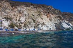 White Beach Santorini Stock Photos