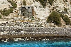 White beach of Santorini Stock Photos