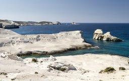 White Beach of Sarakiniko Royalty Free Stock Photography