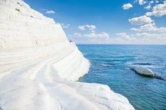 White beach. Scala dei Turchi on Sicily. Italy royalty free stock photos