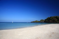 White beach at sea coast of Tatutao Island, Andaman sea, Thailan Royalty Free Stock Photo