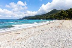 White beach on Skopelos island Stock Photography