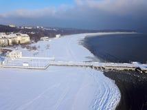 White Beach in Sopot. Sopot, Pomerania, Poland stock images