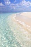White beach and turquoise sea Stock Photos