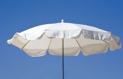 White beach umbrella Royalty Free Stock Photography