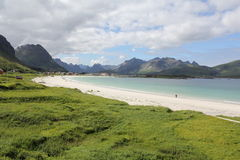 The white beaches of Lofoten Royalty Free Stock Photo