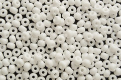 White beads Stock Images