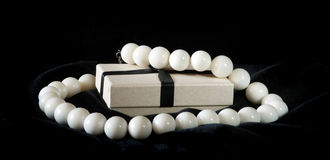 White beads with box Stock Photos