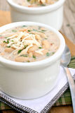 White Bean Chicken Chili. Bowls of white bean chicken chili Stock Photography