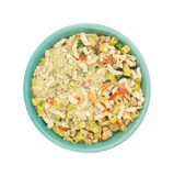 White bean dry soup mix in a bowl top view. Royalty Free Stock Photography