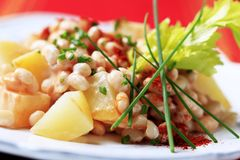 White bean salad Royalty Free Stock Image
