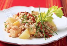 White Bean Salad Stock Photography