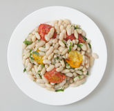 White bean salad from above Royalty Free Stock Photos