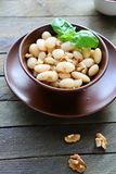White bean salad with walnuts Stock Image