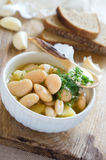 White bean soup Royalty Free Stock Images